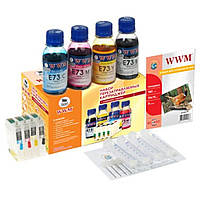 Комплект перезаправляемых картриджей WWM Epson SX525WD/OfficeBX305F/BX625FWD (RC.T129)