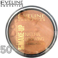 Eveline - Пудра компактная Natural Bronzing Pressed Powder Тон 50 бронзовый загар, шиммер