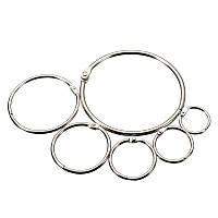 """Кольцо металлическое для переплета 76 мм ( 3""""), серебр, уп/10 шт."""