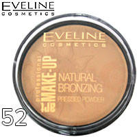 Eveline - Пудра компактная Natural Bronzing Pressed Powder Тон 52 натуральный загар, матовая