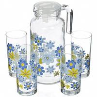 Набор для напитков Pasabahce, 5 предметов (кувшин и стаканы 4 шт) Spring (98884)