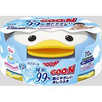 Влажные салфетки GOO.N для чувств.кожи пласт.бокс-пингвин с секр.замком, смен. блок 70 шт (733429)