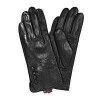 Женские кожаные зимние перчатки на флисе
