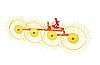 Грабли ворошилки Mokobody Z-510/1 (гребка 4 колеса), фото 2