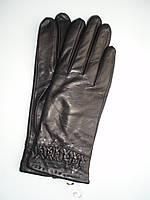 Женские кожаные перчатки (лайка) на плюше