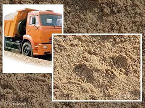 Доставка песка в Полтаве и области
