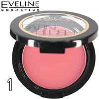 Eveline - Румяна компактные Satin Blush Тон 01 soft pink