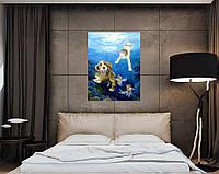 """Картина маслом, """"Золотые рыбки"""""""