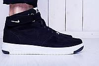 Мужские кроссовки Nike Air Force 1 High в черном цвете
