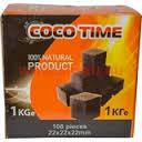 Уголь Кокосовый Coco Time 1кг (108 штук) - в упаковке