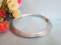 Проволока для рукоделия, 1 мм,  цвет серебро, 10 м