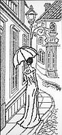 Наборы для вышивки нитками - счётный крест СК Прогулка по старым улочкам