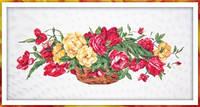 Наборы для вышивки нитками - счётный крест СК Корзина с розами