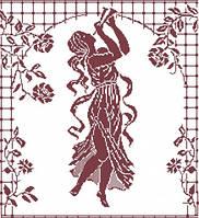 Наборы для вышивки нитками - счётный крест СК Эвтерпа