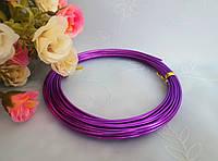 Проволока для рукоделия, 1,5 мм,  цвет фиолетовый, 10 м