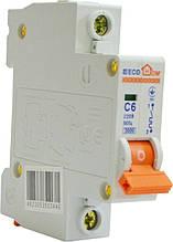 Автоматический выключатель ECO MB 1p C 6A ECOHOME