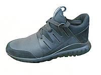 Мужские кожаные велюровые Кроссовки Adidas Tubular без предоплаты
