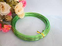 Проволока для рукоделия, 1 мм,  цвет светло-зеленый, 10 м