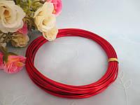 Проволока для рукоделия, 1,5 мм,  цвет красный, 10 м