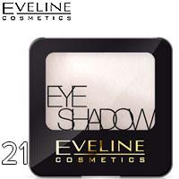 Eveline - Тени для век 1-цв EyeShadows Тон 21 crystal white, белые сатиновые