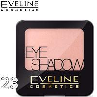 Eveline - Тени для век 1-цв EyeShadows Тон 23 elegant beige, светлые персиковые сатиновые