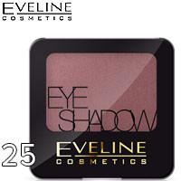 Eveline - Тени для век 1-цв EyeShadows Тон 25 charming violet, дымчатая фиалка атласные