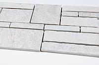 Гранитный декоративный серый камень-мозаика на сетке Vivacer L1212