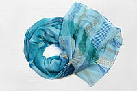 Легкий шарф из вискозы Синди, голубой