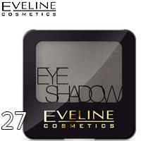 Eveline - Тени для век 1-цв EyeShadows Тон 27 silver sparkle, серые мерцающие