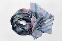 Легкий шарф из вискозы Синди, серо-розовый