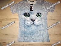 Женская футболка The Mountain с 3D изображением кошки. Размер XL