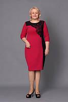 Женское платье больших размеров Кармен 52,54, 56, 58 оптом