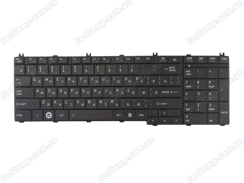 Клавиатура для ноутбука TOSHIBA C650