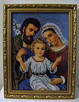 """Икона вышитая бисером """"Святое семейство"""""""