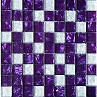 Декоративная мозаика на сетке сиреневая Vivacer Mix Violet Китай