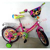 Детский двухколесный велосипед  Маша и медведи 18 дюймов, фото 1