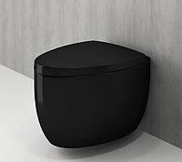 Унітаз підвісний чорний BOCCHI ETNA 1116-005-0129+А0325-005 сидіння дюропласт