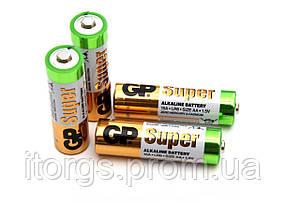 Батарейки GP Super Alkaline 15A LR6 AA (пальчиковые)