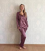 Женская классическая пижама с катом