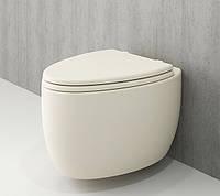 Унітаз підвісний ванільний BOCCHI ETNA 1116-008-0129+А0325-008 сидіння дюропласт