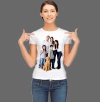 Футболка женская с фото, надписью или любым изображением белая - Фотосувениры, мужские сумки и клатчи, чехлы для телефонов и планшетов, аксессуары в Одессе