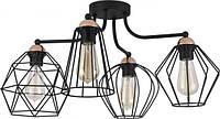 Люстра TK Lighting GALAXY Plafon 1645 чорна, метал, решітки, лофт