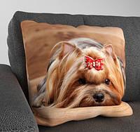 Декоративная подушка с собачкой