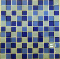 Голубая мозаика микс на сетке Vivacer Mix C 03R Китай