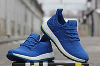 Мужские кроссовки ADIDAS PURE BOOST, плотная сетка, ярко синие / кроссовки мужские Адидас Пур Буст
