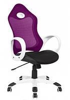 Кресло Матрикс-1 Белый, сиденье Сетка черная/спинка Сетка бордовый.