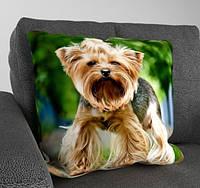 Декоративная подушка с симпатичной собачкой