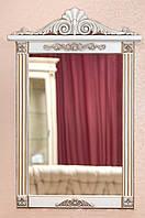 Зеркало в деревянной раме с резьбой, фото 1