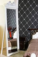 Зеркало напольное в деревянной раме с резьбой