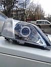 Комплект передних фар с биксеноновыми линзами с ангельскими глазами на Renault Logan (Рено Логан)